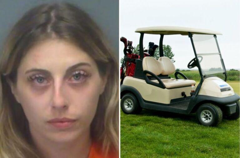 Police: Naked Florida woman drives golf cart through armed standoff - Orlando Sentinel